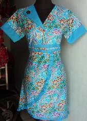 DK Batik Pekalongan Dress Remaja Katun Bambu Amelia Baju Batik
