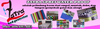 Grosir Sprei Waterproof Zatra