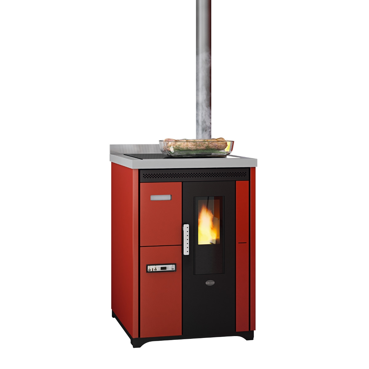 Cucina Pellet Cucina A Pellet Nina Rossa 7 5kw Grossishop It Tutto