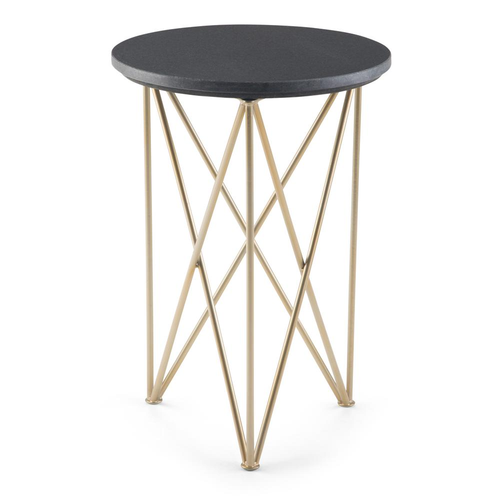 Round Plastic Tables Simpli Home Dyson Black And Gold Accent Table Axcdys The End