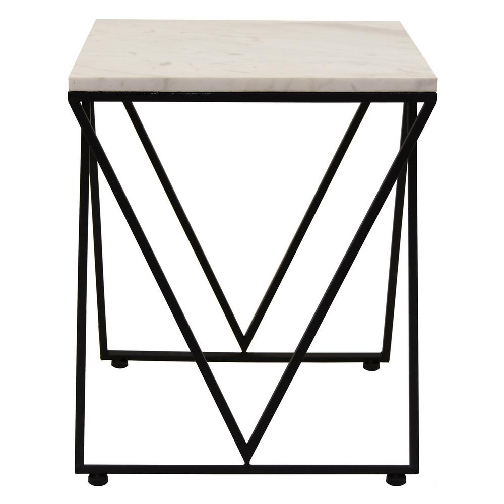 Metal Glass End Tables Three Hands Metal And Marble Accent Table The Black End Tables Oak