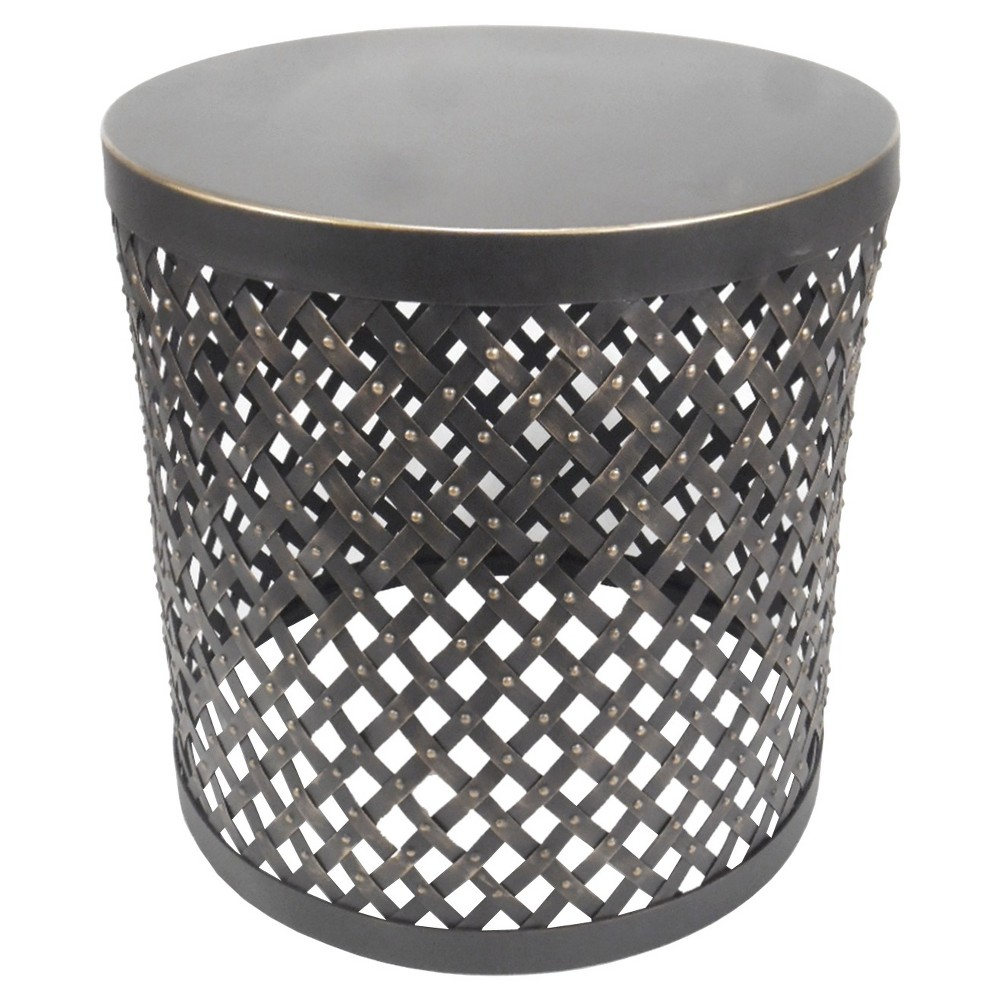 Edmonton Modern Furniture Upc Accent Table Threshold Round Metal Product For Cutout Black