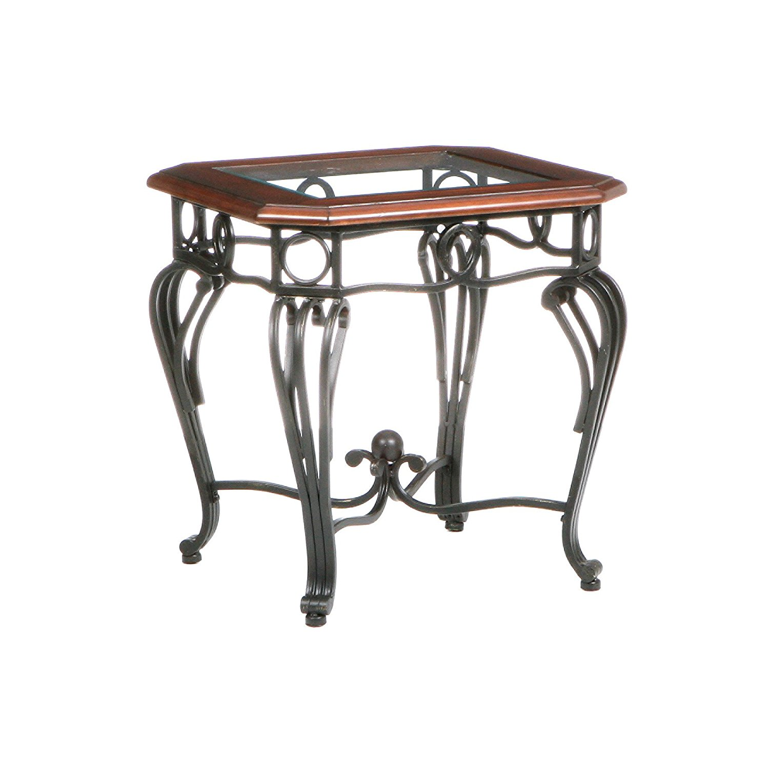 Metal Glass End Tables Wrought Iron End Tables With Glass Tops Home Furniture Modern