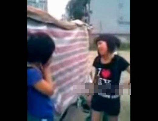 【いじめ動画】小学生少女の集団暴行が見てられない・・・