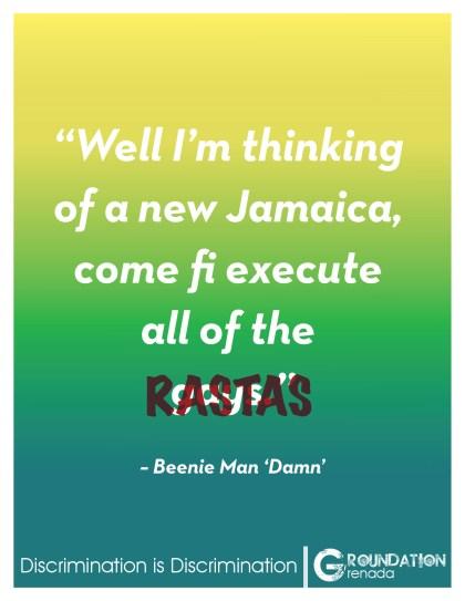Groundation Anti-Discrimination Campaign - Damn by Beenie Man