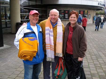 Me, Bud Collins, and Tricia @ Davis Cup 2007