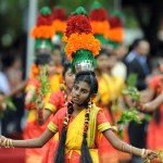 Sri Lankan traditional dancers perform d