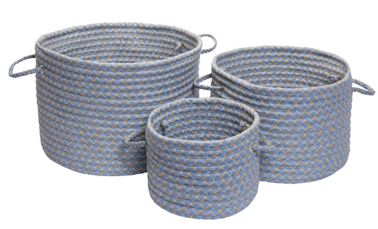 Bon Bolton Furniture Inc Links Storage Baskets In Blue