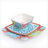 Waverly 12-Piece Melamine Dinnerware Sets