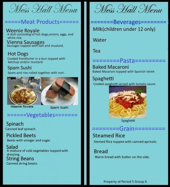 spanish food menu example - Minimfagency