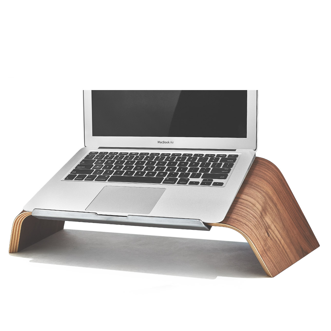 Laptop Holder For Bed Wood Laptop Stand Walnut Platform Laptop Holder