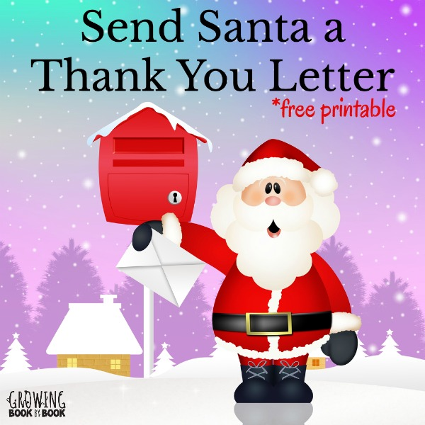 Writing Activities Thank You Letters to Santa