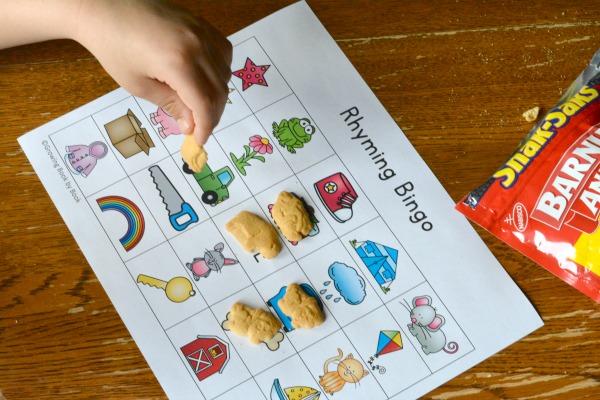 Printable Rhyming Bingo Boards