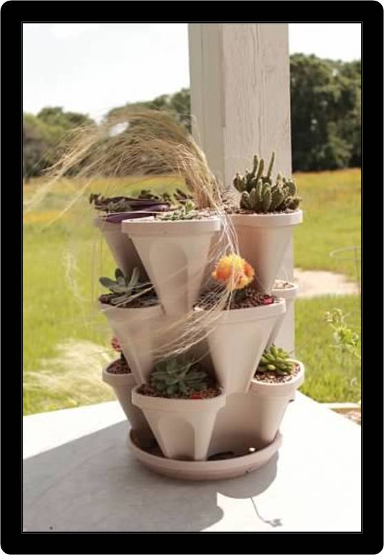 Gardening In Pots Stacking & Hanging Planters - Gardening Made Easy - Mr. Stacky
