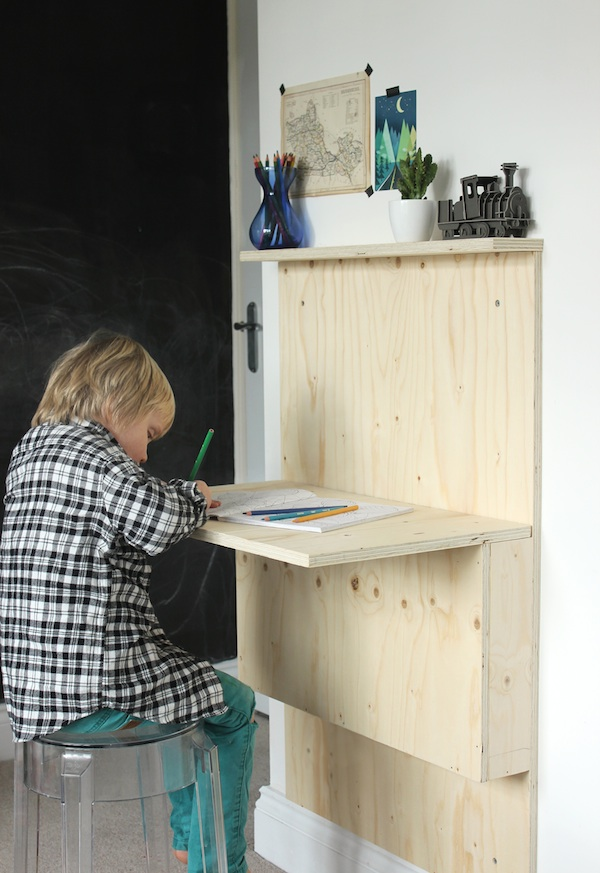 Ikea Fold Down Table Diy Kids' Fold-away Desk | Growing Spaces