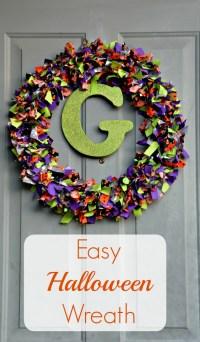 DIY Halloween Rag Wreath
