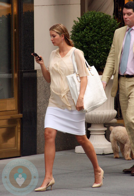 Compact Car Seat Stroller Pregnant Ivanka Trump In Nyc Growing Your Baby