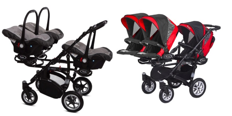 Twin Stroller Infant The Babyactive Tripp Stroller The Coolest Triple