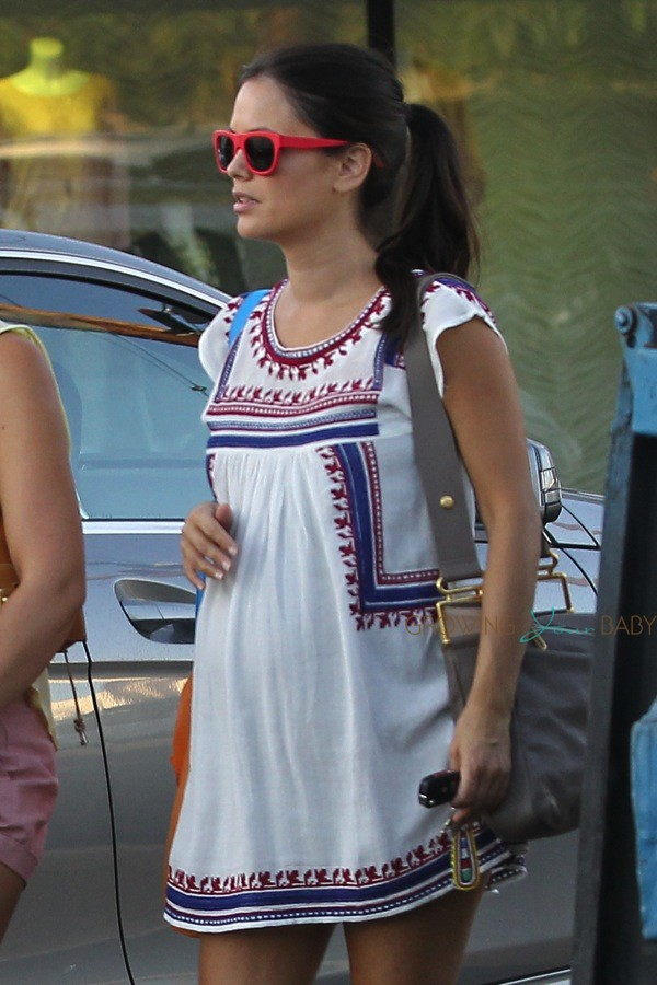 Britax Car Seat With Stroller Pregnant Rachel Bilson Out In La Growing Your Baby