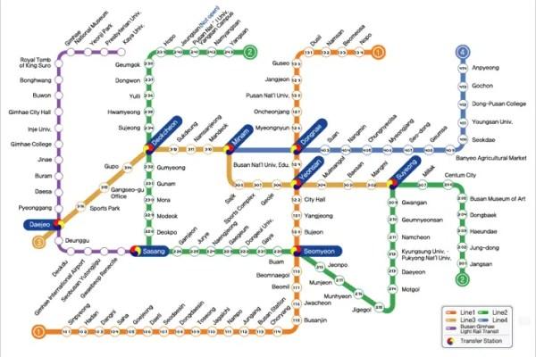 Busan Metro Map, Busan LR map