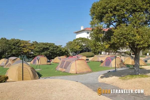 camping at the Shilla Hotel Jeju