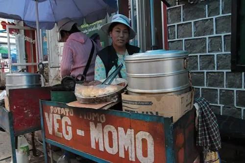 momo lady in dharamsala, tibetan momos in dharamsala, food in dharamsala