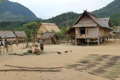 Khmu village laos