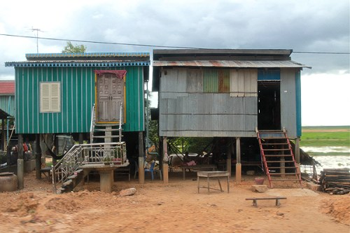 khmer stilted houses