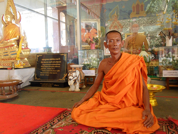 Buddhist masters in Thailand, buddhism in thailand, inside a thai temple,