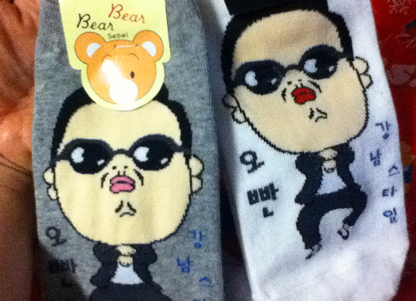cute korean socks, oppa socks in korea, gangnam style socks and clothes