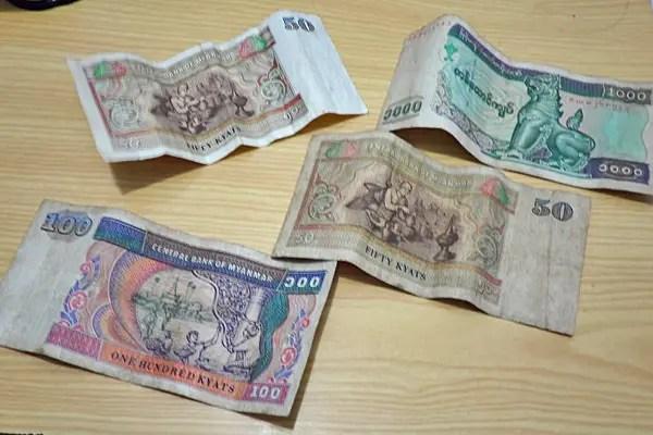 myanmar currency, burma currency, burmese money kyat