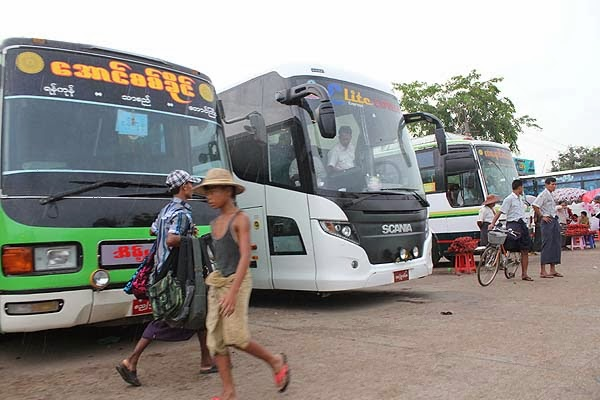 myanmar bus station, yangon bus station