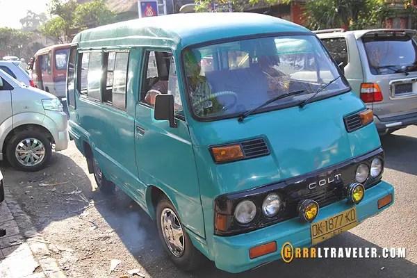Bemos in bali, balinese bus, getting around in Bali