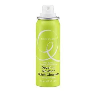 deva curl no poo cleanser, best dry shampoo