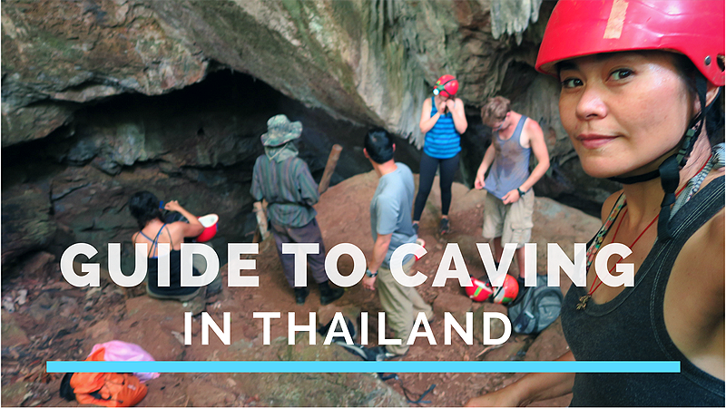 Caving in Thailand, adventure caving in Thailand