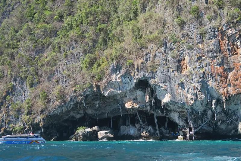 viking cave, ko phi phi tour