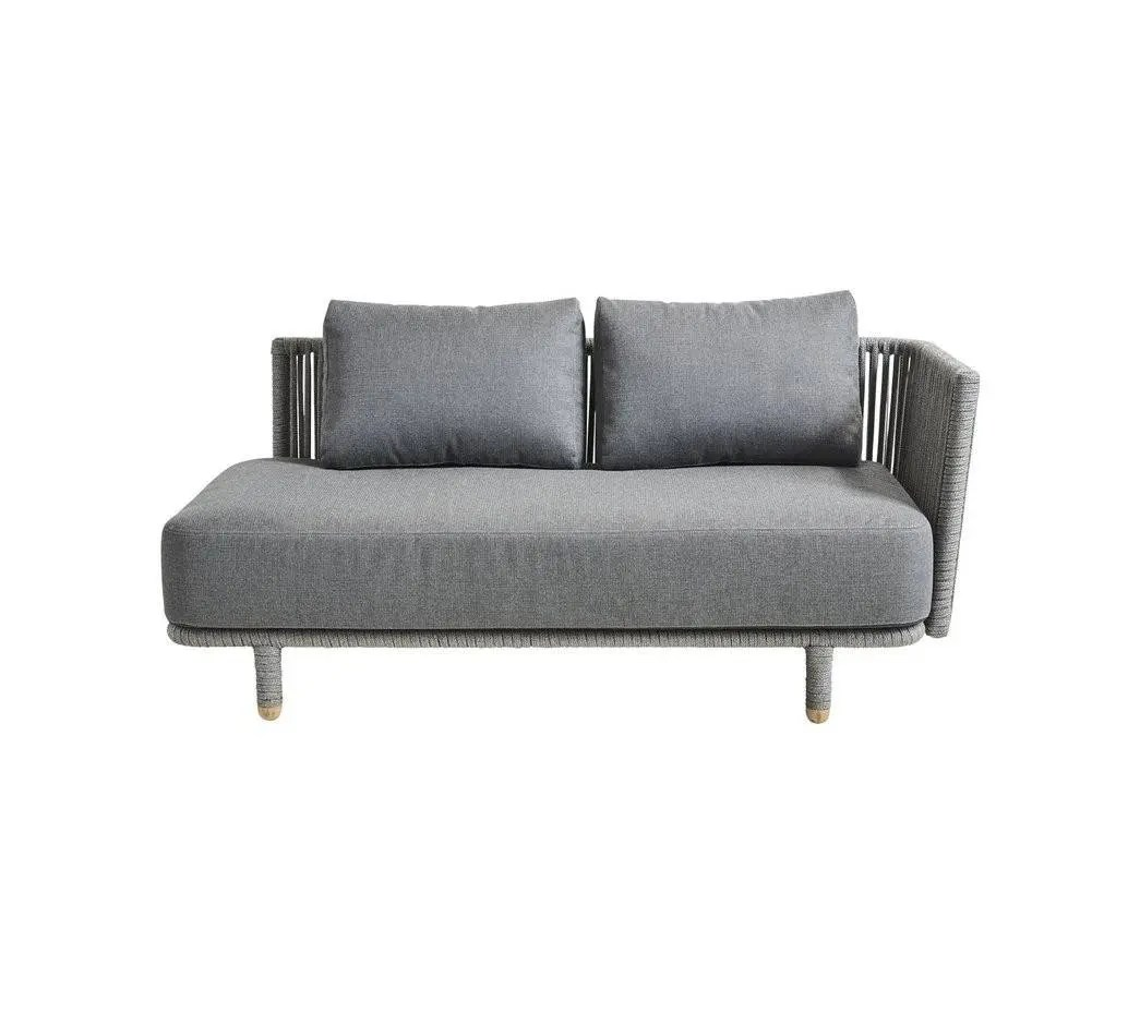 Sofa Module Cane Line Moments 2 Seater Sofa Left Module Includes Grey Cushion Set 7541