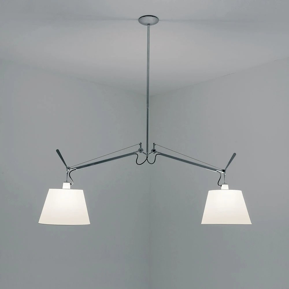 Artemide Suspension Artemide Tolomeo Double With Shade Suspension Lamp