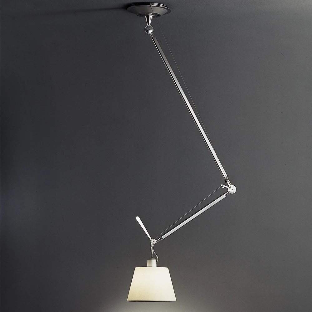 Artemide Suspension Artemide Tolomeo Off Center With Shade Suspension Lamp