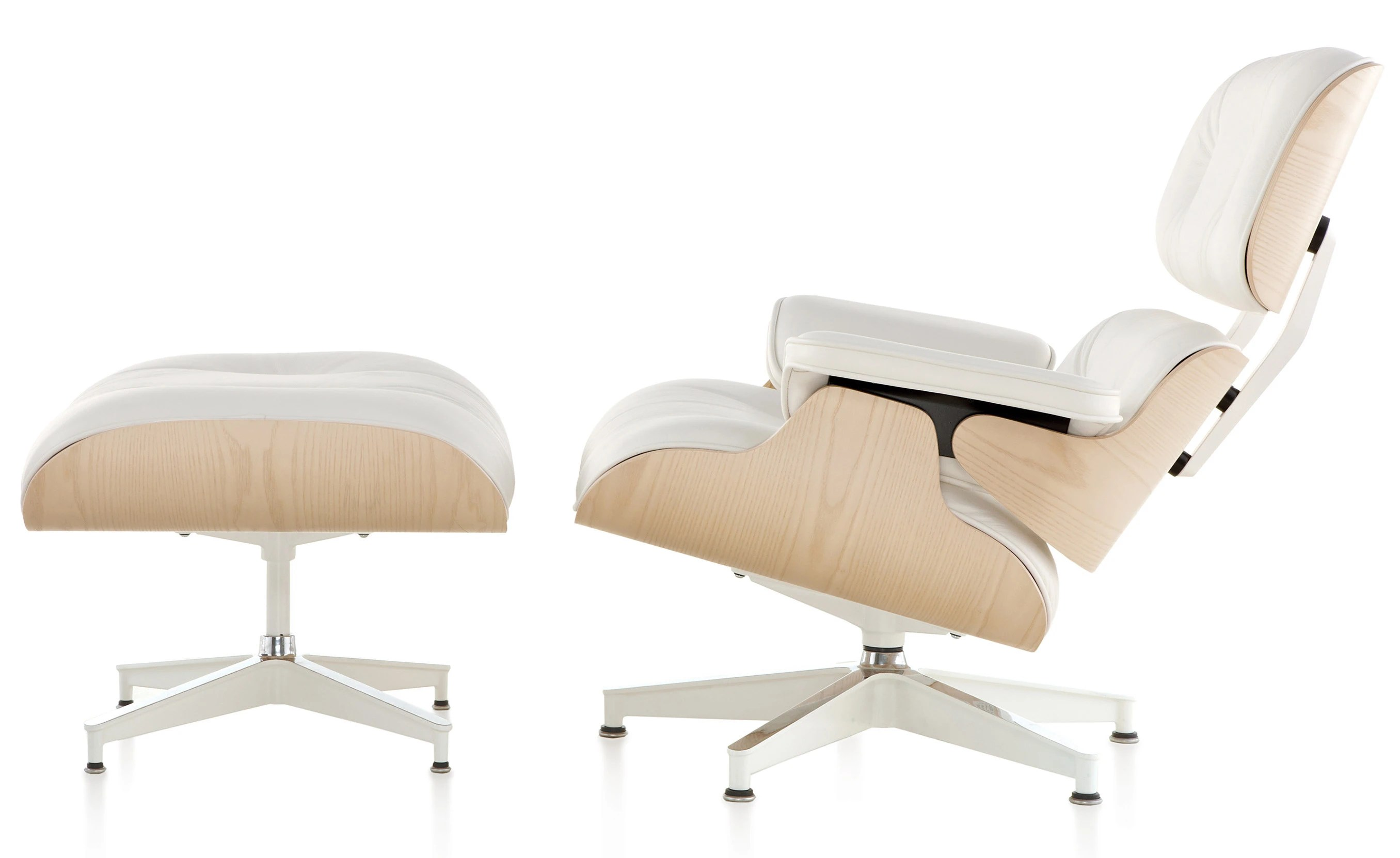 White Ottoman Canada Herman Miller Eames Lounge Chair And Ottoman White Ash