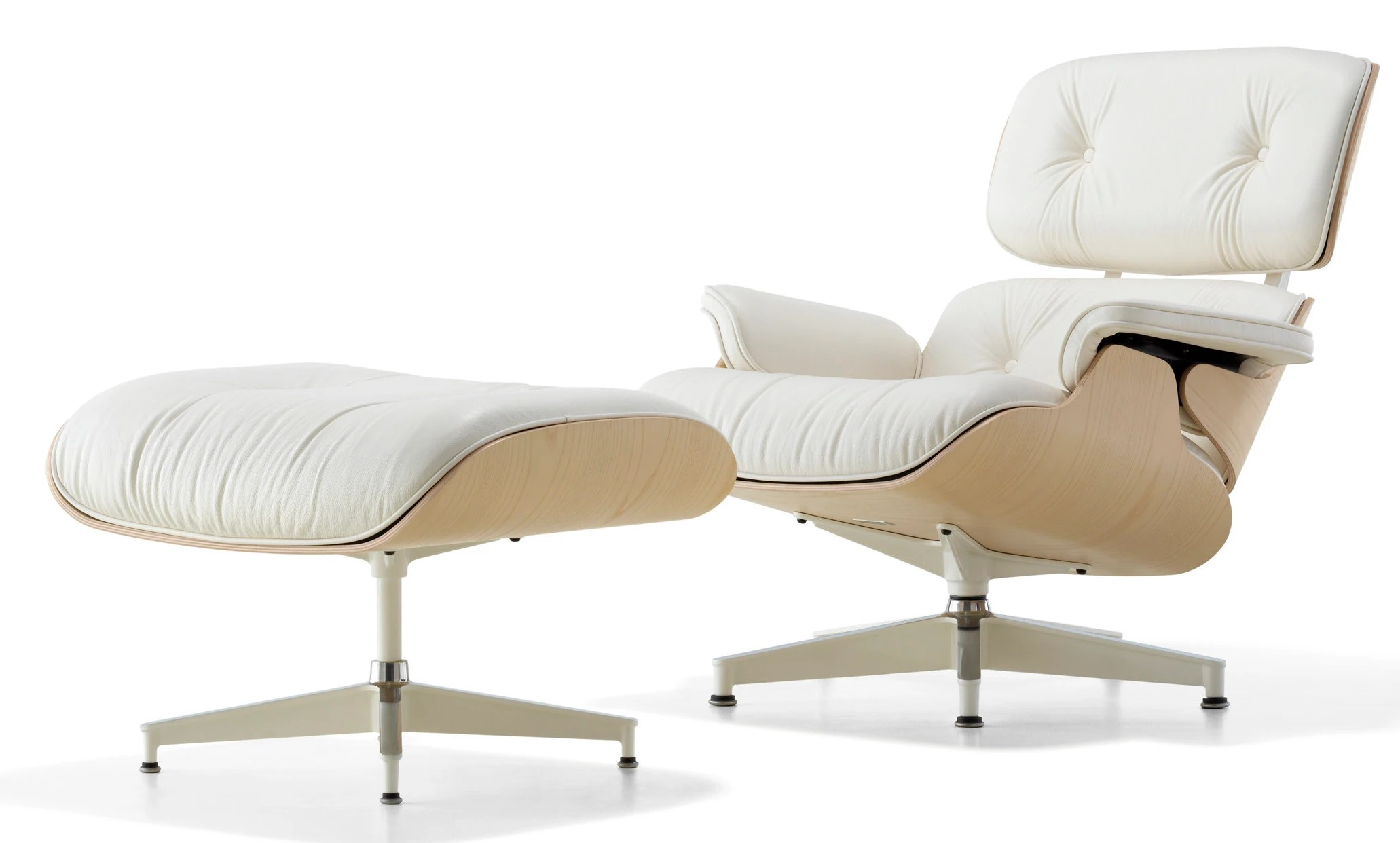 Eames Lounge Sessel Herman Miller Eames Lounge Chair And Ottoman White Ash