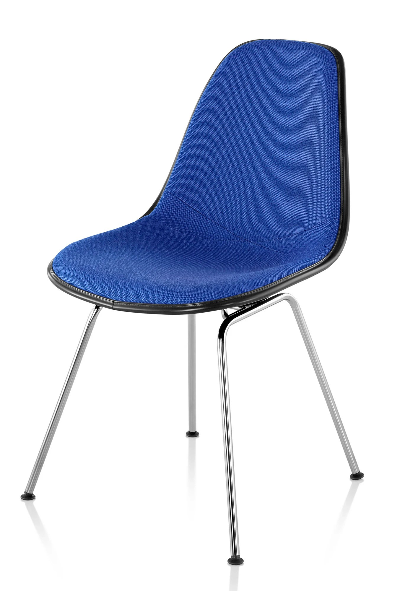 Herman Miller Eamesr Molded Plastic Side Chair Upholstered