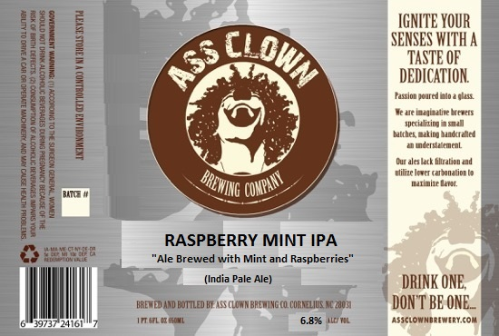 Ass Clown Raspberry Mint IPA