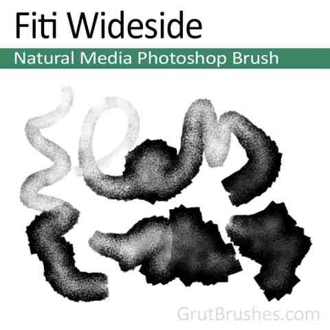 Photoshop Natural Media Brush 'Fiti Wideside'