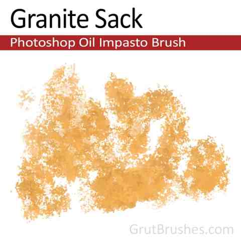 Impasto Oil Photoshop Brush 'Granite Sack'
