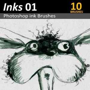 Download 10 Photoshop ink brushes for Digital Artists