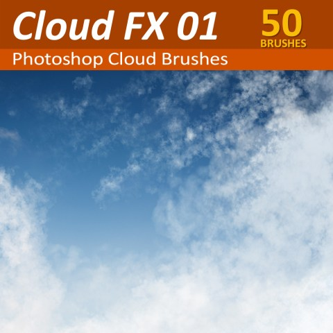 50 Photoshop Cloud Brushes and Tools
