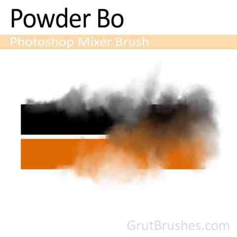 'Powder Bo' Photoshop Mixer Brush digital artist's toolset