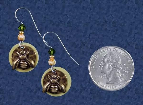 Honeybee Earrings at Gryphon's Moon