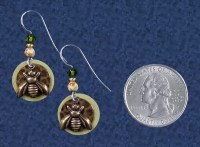 Honeybee Earrings at Gryphon's Moon